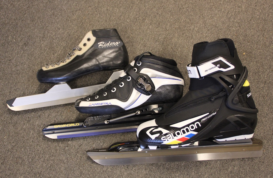 Schaatsen, skeelers en ski's.